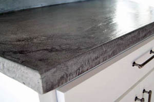 This picture shows concrete countertops in Seattle kitchen